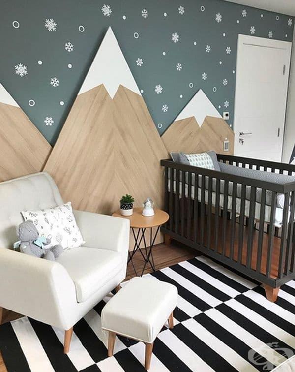 Снежна планинска инсталация може да направи всяко помещение по-уютно.