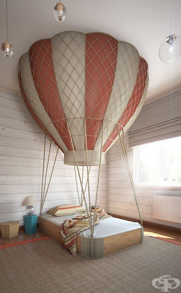 Легло с балон за истински приключения.