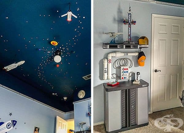 Слънчева система с домашна ракета и сателит за истински мечтател.