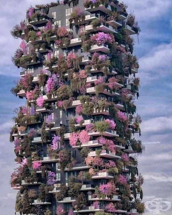 """Жилищен комплекс """"Вертикална гора"""", Милано."""