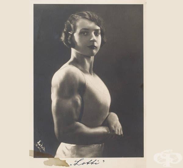 Културистката Лоти, 1925-та година.