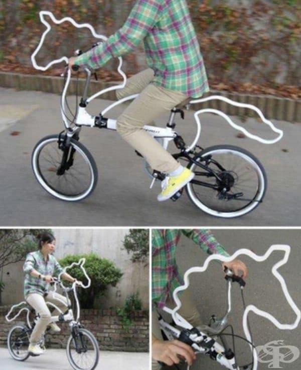Мечтаете да яздите кон, но имате само велосипед. Украсете го с грива и опашка.