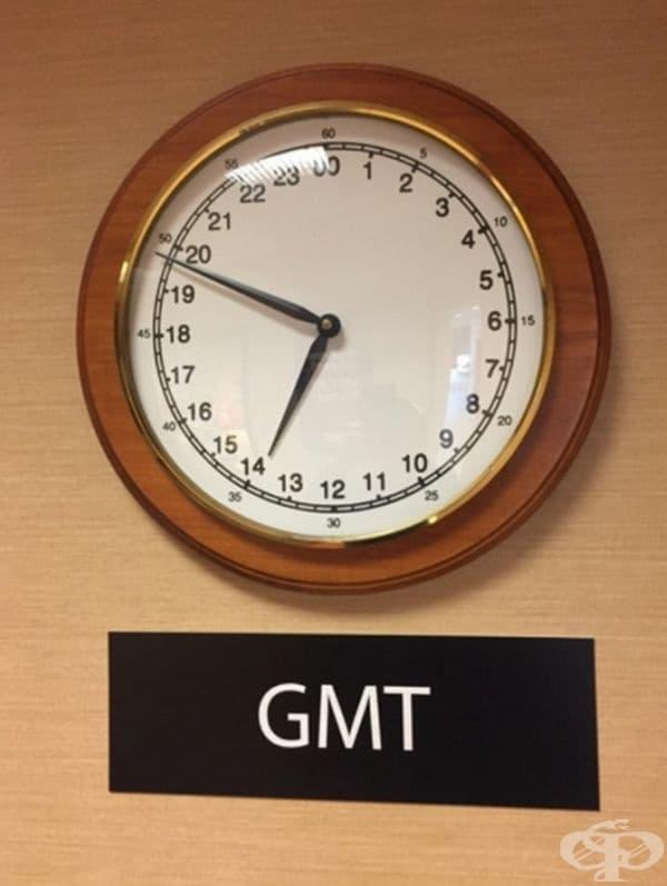Часовник с циферблат за 24 часа.