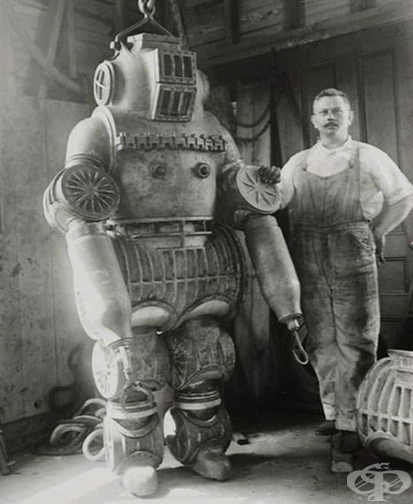 Костюм за гмуркане с тегло почти 200 кг. 1911 г.