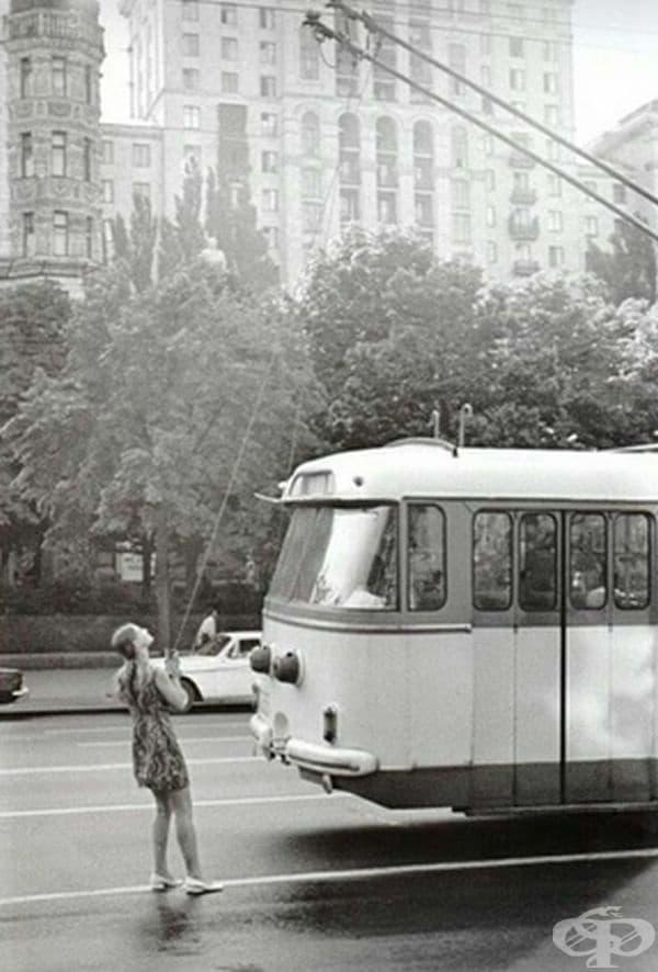 Шофьор на тролейбус, 1975 г.