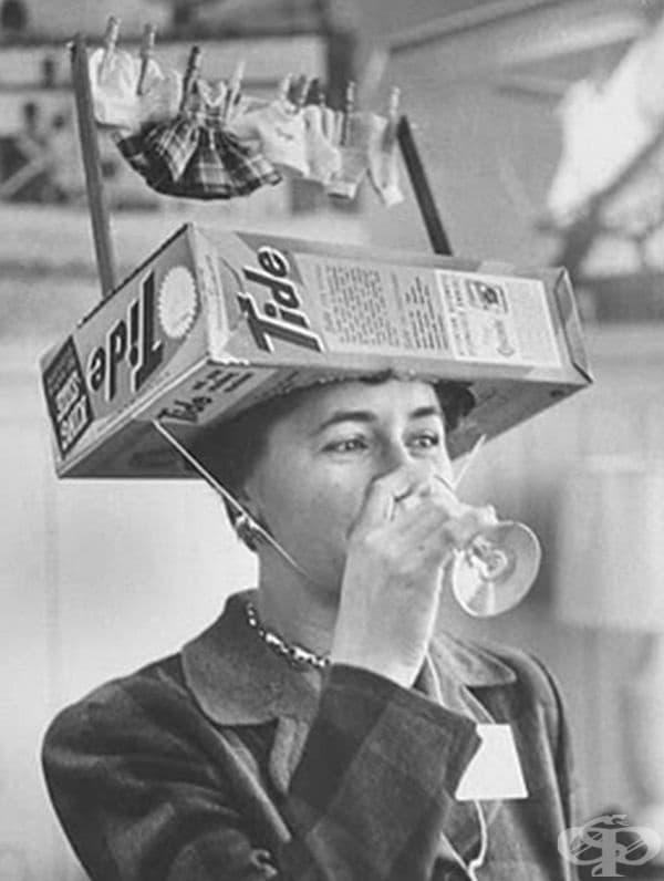 Реклама на прах за пране през 50-те години.