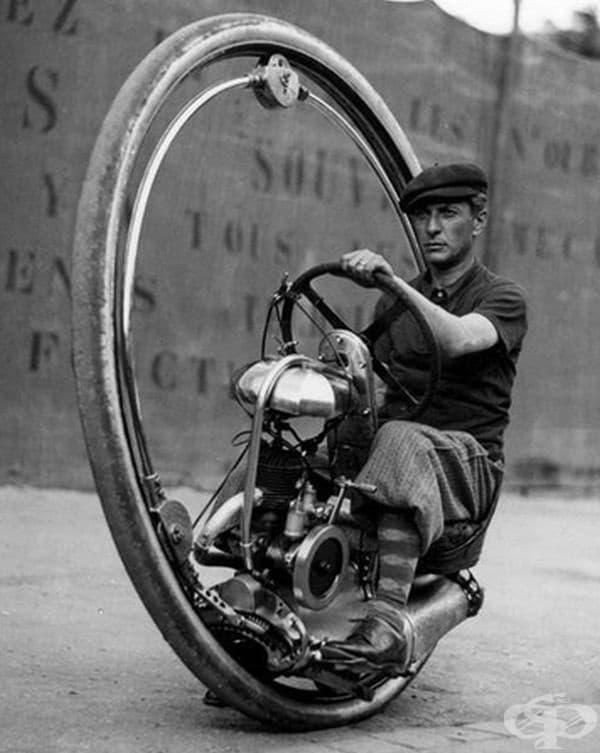 Моноцикъл (велосипед с едно колело). Лос Анджелис, 1938 г.