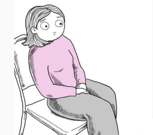 Ръце върху колената. Ако държите ръцете си върху коленете или скрити между краката, това ви характеризира като срамежлив и замислен човек. Вие сте скромни, нежни, чувствителни и състрадателни към емоциите на другите хора.