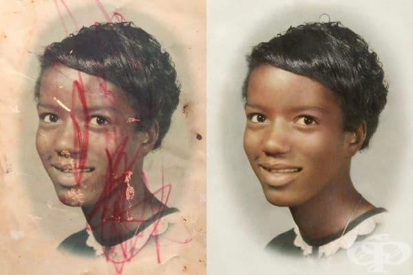 Единствената снимка на майка си, която е притежавало момчето. Майката е починала при раждане.