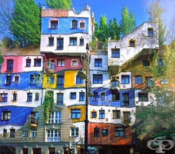 Австрийска сграда от 1980 г, отново дело на легендарния архитект.