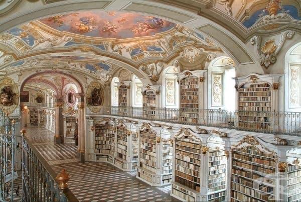 Библиотеката Адмонт Аби, Австрия.
