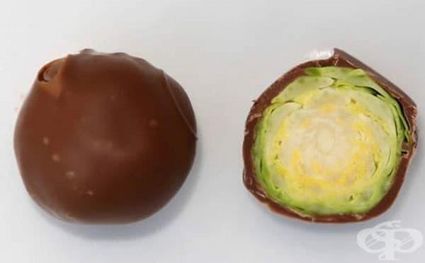 Страхотна шега за Хелоуин - шоколадово зеленце.