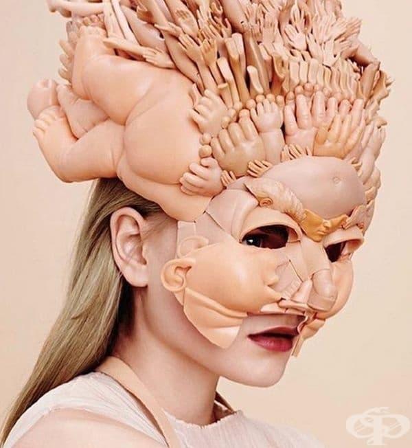 Екстравагантна маска за лице.