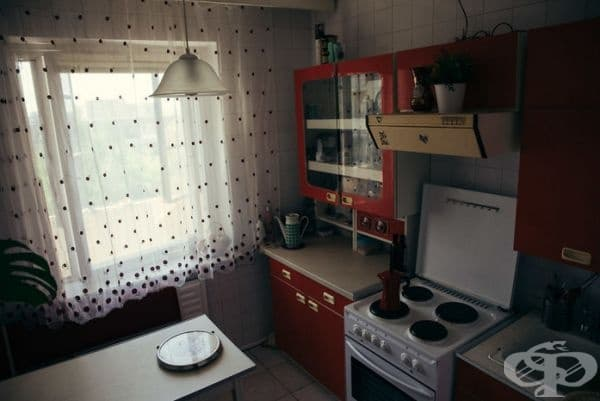 Най-уникалната част от апартамента е кухнята.