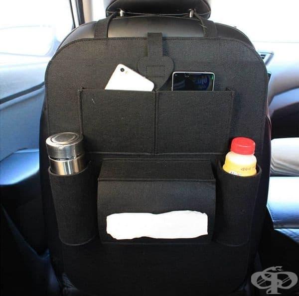 Органайзер за облегалката на предната седалка.