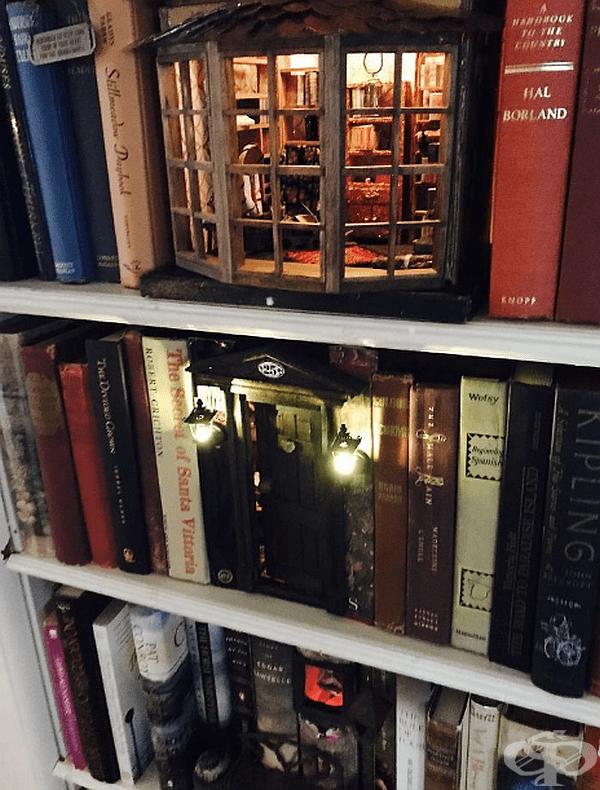 Магическа книжарница на собствената ви рафт за книги.