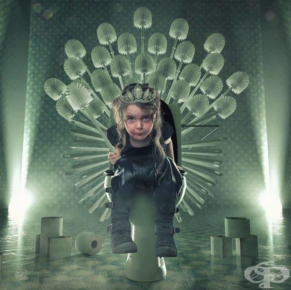 Юна Старк - кралицата на тоалетните.
