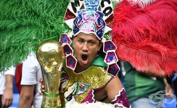 Мексиканските фенове обичат ярките цветове.