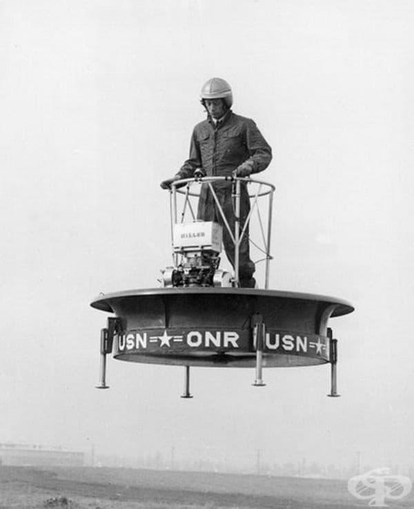 Това е първият свободен полет на летяща платформа, 1955 г.