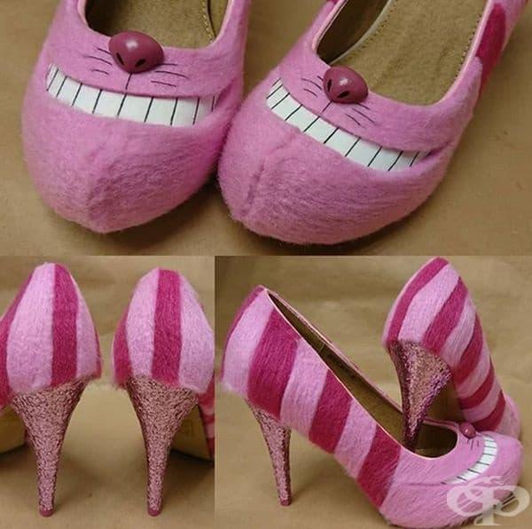 Обувки тип Чеширски котарак.