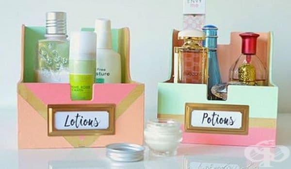 Луксозните кутии могат да бъдат чудесен органайзер за козметика.