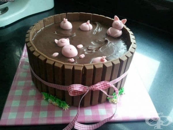 "Торта ""Прасенца в кал""."