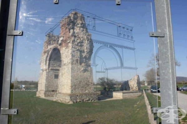 Най-страхотният начин да покажете как е изглеждала някога една разрушена сграда.