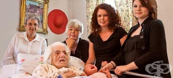 6 поколения жени в една снимка.