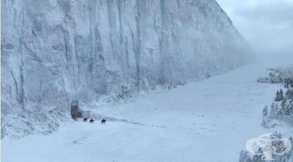 """Помните ли голямата ледена стена от филма """"Игра на тронове""""."""