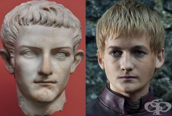 """Много хора отбелязват невероятното сходство между Калигула и Джофри от """"Игра на тронове""""."""