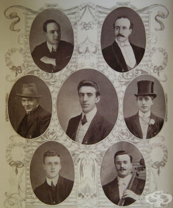Музикантите от Титаник, които свирят, за да осигурят комфорт на ужасените пътници по време на потъващия кораб.