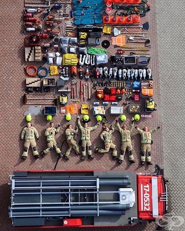 Пожарникари от Казерне Ротердам-Фробенстраат, Холандия