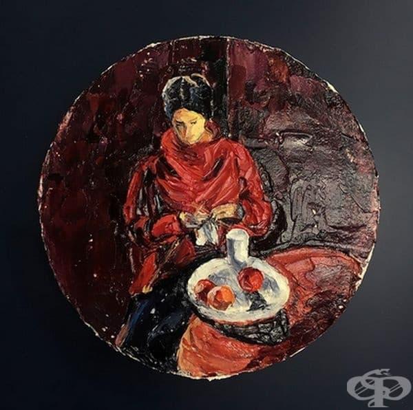 "Моис Кислинг, ""Жена в червен пулове"""