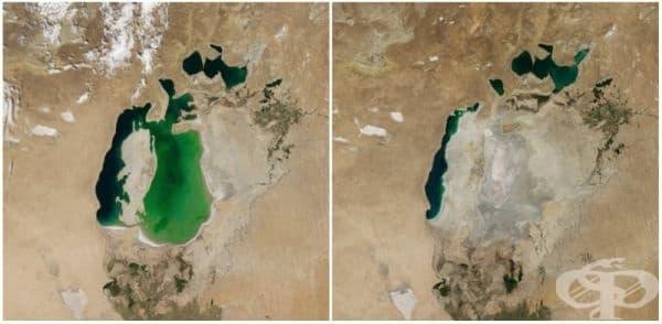 Аралско море, Централна Азия (август 2000 - август 2014).