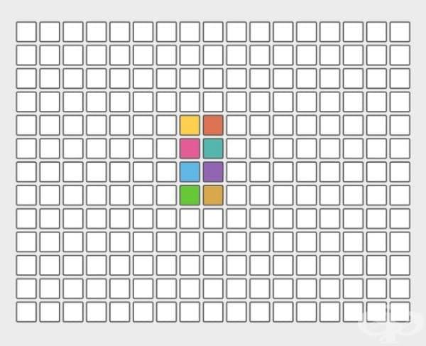 Клетката с кой цвят се намира в самия център?