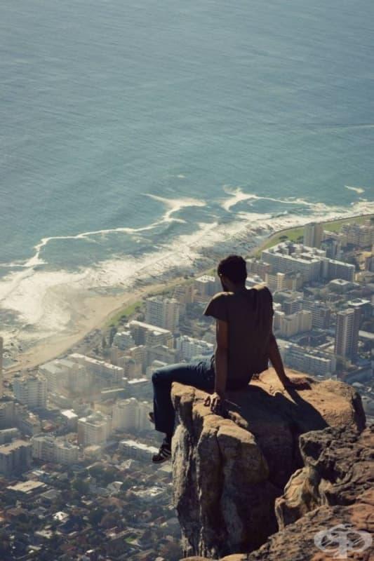 Спираща дъха гледка от Лъвската планина, Кейптаун, Южна Африка.