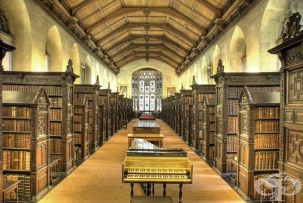 "Библиотеката на колеж ""Сейнт Джоунс"", Кеймбридж, Великобритания."