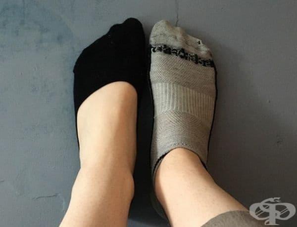 """""""Моята приятелка има философия за носене на чорапи, която няма нищо общо с обикновените разбирания""""."""