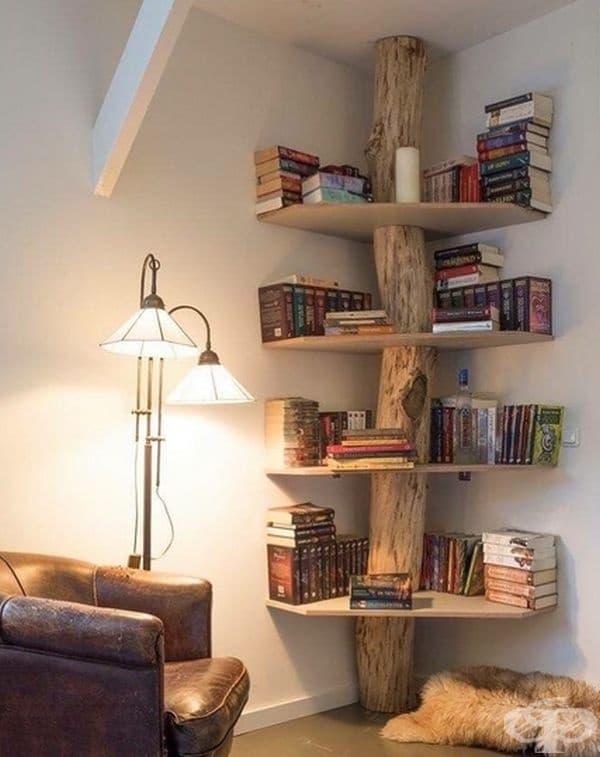 Дърво - библиотека. Много симпатично.