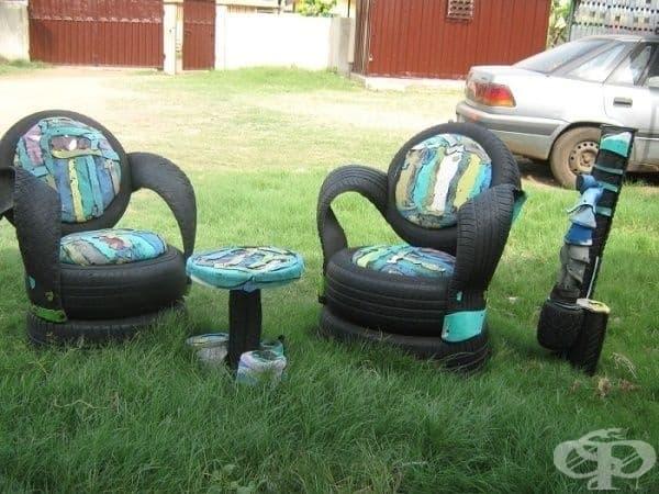Вижте в какво могат да се превърнат старите автомобилни гуми