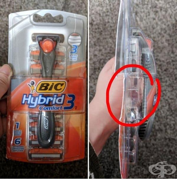 Класика в жанра. Централната разпределения за ножчета са празни. На външен вид обаче опаковката изглежда много внушителна.