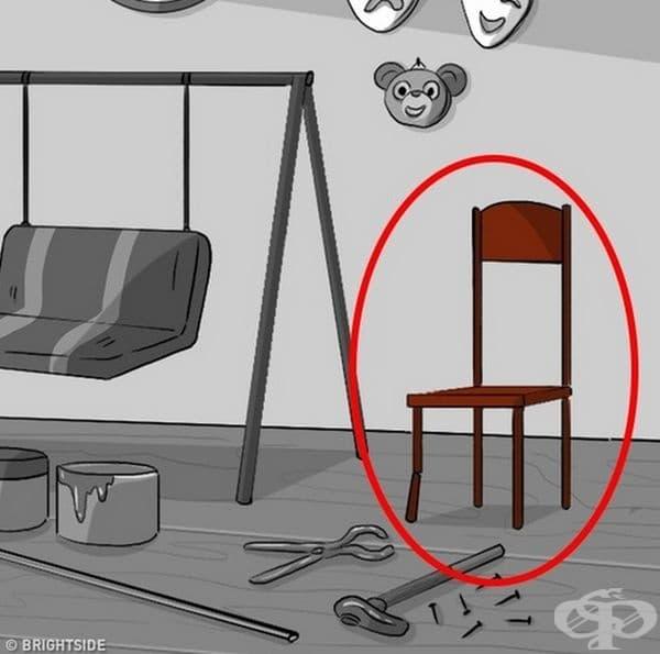 Счупен стол. Той показва, че сте уморени, стресирани и нестабилни. Определно се нуждаете от почивка.