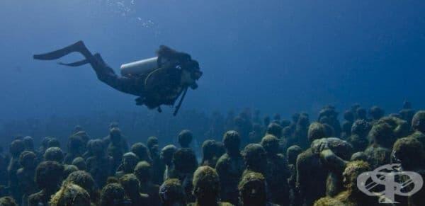Подводен музей, Мексико.