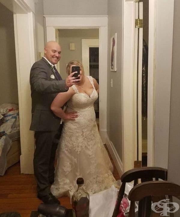 """""""Помолих съпруга си да си направим сватбена снимка!"""""""