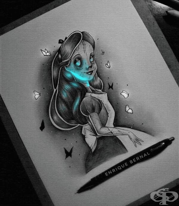 Художник създава светещи рисунки с хипнотизиращ ефект