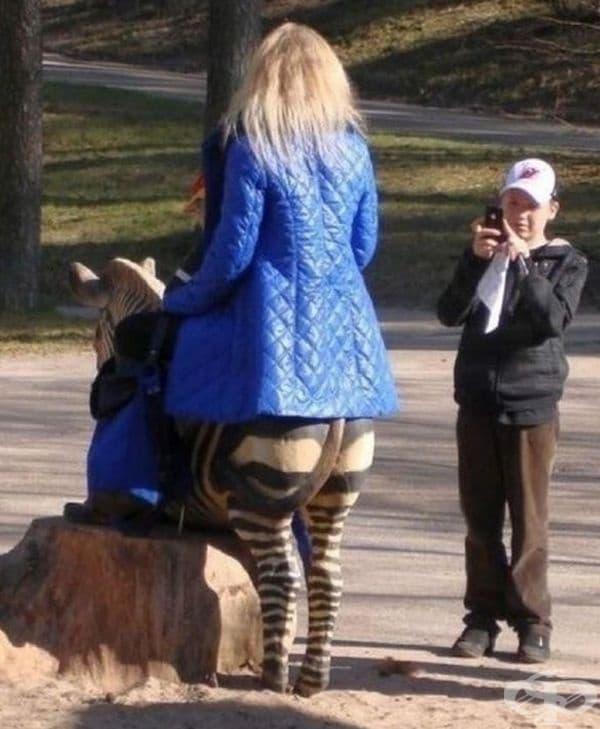 Това е първият случай на хибрид между жена и зебра.