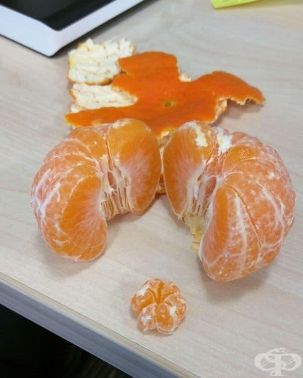 В голяма мандарина е открита мини мандарина.