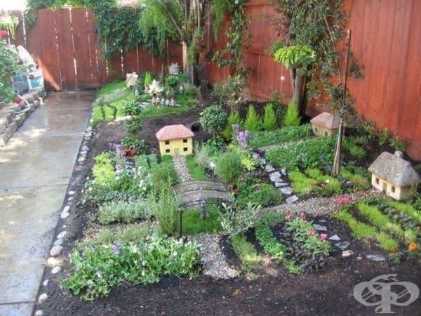 Селска цветна леха - децата ще се радват да играят тук.