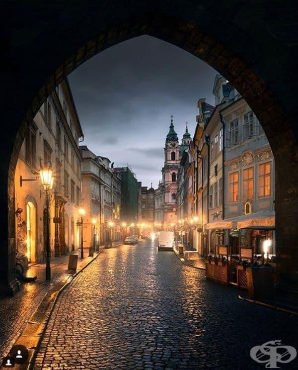 """Улица """"Целетна"""", Прага, Чехия."""