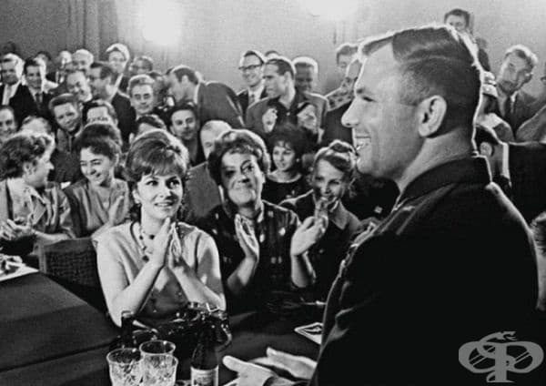 Юрий Гагарин и Джина Лолобриджида, Москва, 1961.